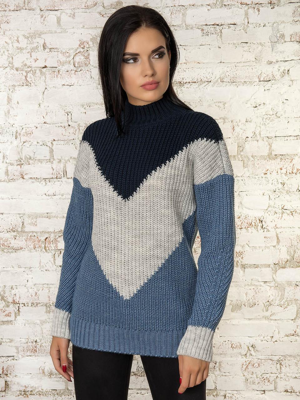 Женский зимний свитер теплый Кира-2 под горло Шерсть-Акрил