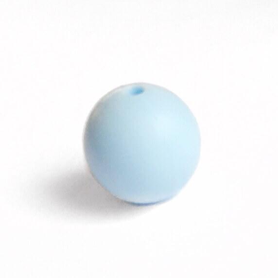 15мм (беби блю) круглая, силиконовая бусина