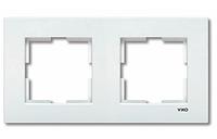 Рамка 2-местная горизонтальная белая Viko Karre