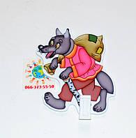 Держатель рисунка с прищепкой Волк