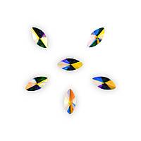 Стразы Фигурные 33-4-8Crystal АВ Овал (6шт), фото 1