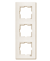Рамка 3-местная вертикальная крем Viko Karre