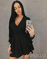 Женское модное платье с пышной юбкой из воланов (6 цветов), фото 1