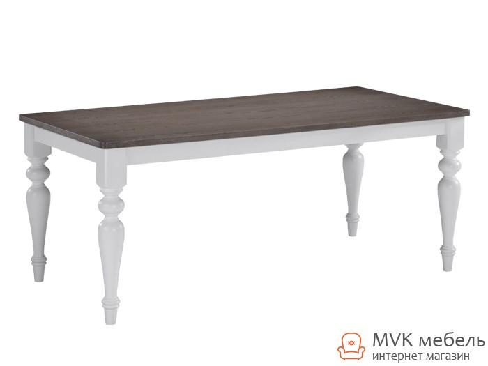 """Деревянный стол с резными ногами """"Шарлин"""" (орех седой)"""