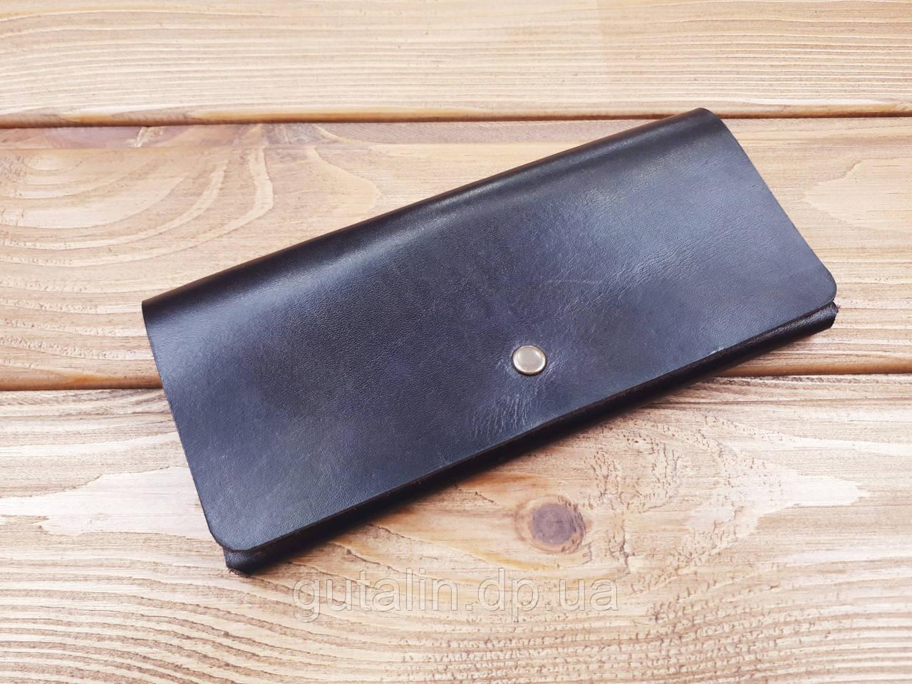 Женский кошелек из натуральной кожи ручной работы Elegant Италия цвет коричневый