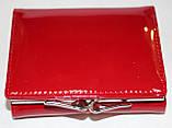 Кошелек женский красный лаковый, маленький, фото 5