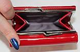 Кошелек женский красный лаковый, маленький, фото 2