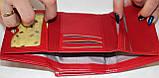 Кошелек женский красный лаковый, маленький, фото 3