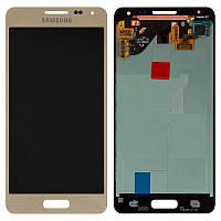 Дисплейный модуль (экран и сенсор) для Samsung Galaxy Alpha G850, золотистый, оригинал