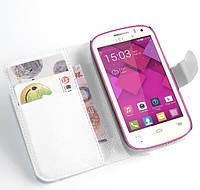 Чехол-книжка Litchie Wallet для Alcatel OneTouch POP C3 4033X / 4033D Белый