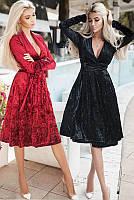 Велюровое платье  -ДАНИЭЛЛА- , фото 1