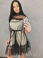 Женское шелковое двойное платье (2 цвета), фото 1