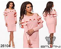 Романтичное женское платье с оборками с 48 по 54 размер, фото 1