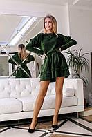 Женское свободное платье с рюшами из люрекса (2 цвета), фото 1