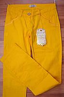 Женские брюки лето желтые 214