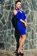 "Женское платье выше колен ""Infiniti"" электрик 44, фото 1"