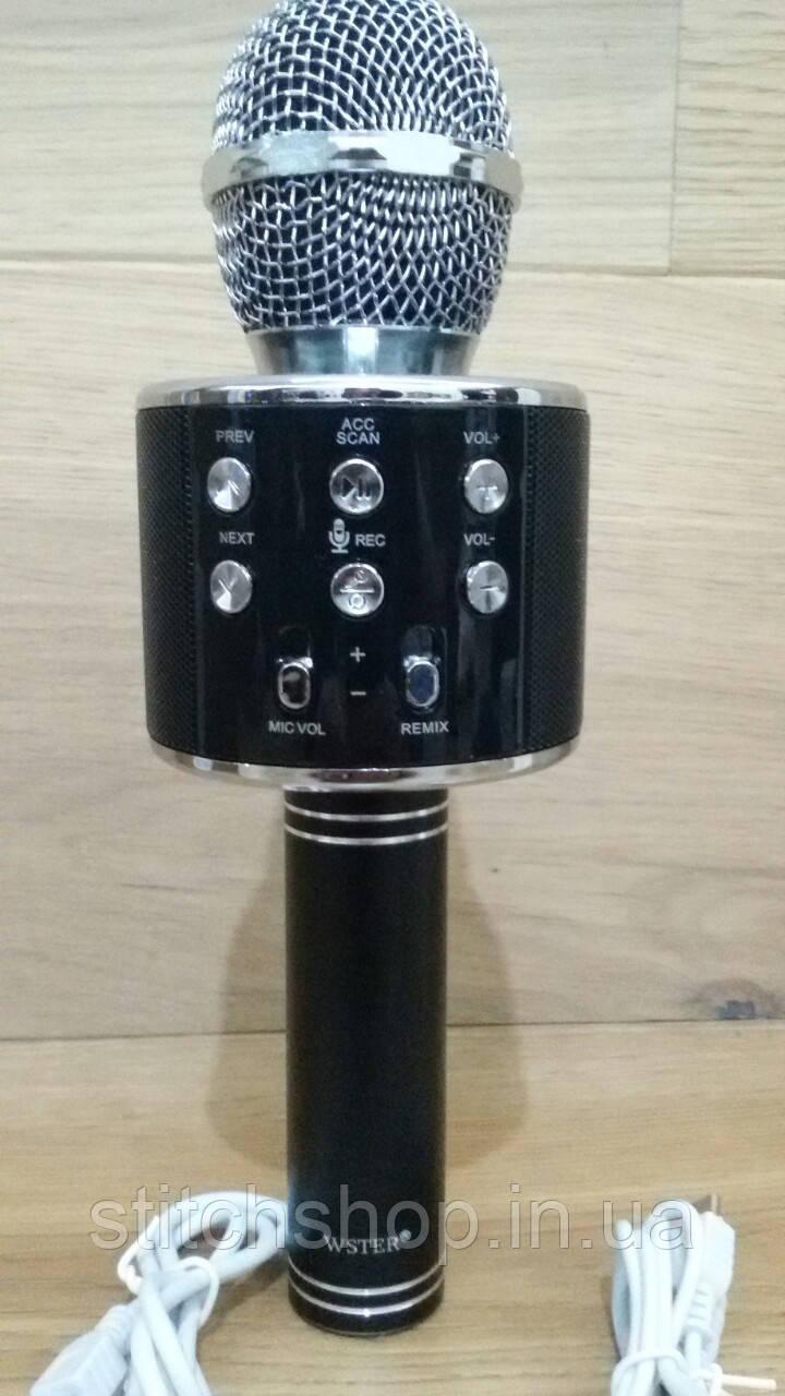 Микрофон караоке WSTER-WS858 microSD FM радио