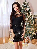 Женское модное платье-костюм с кружевом, фото 1