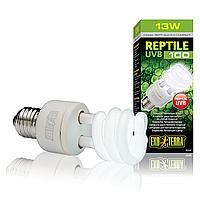 Компактная люминесцентная лампа Exo Terra «Reptile UVB 100» для облучения лучами УФ-В спектра 13 W, E27 PT2186