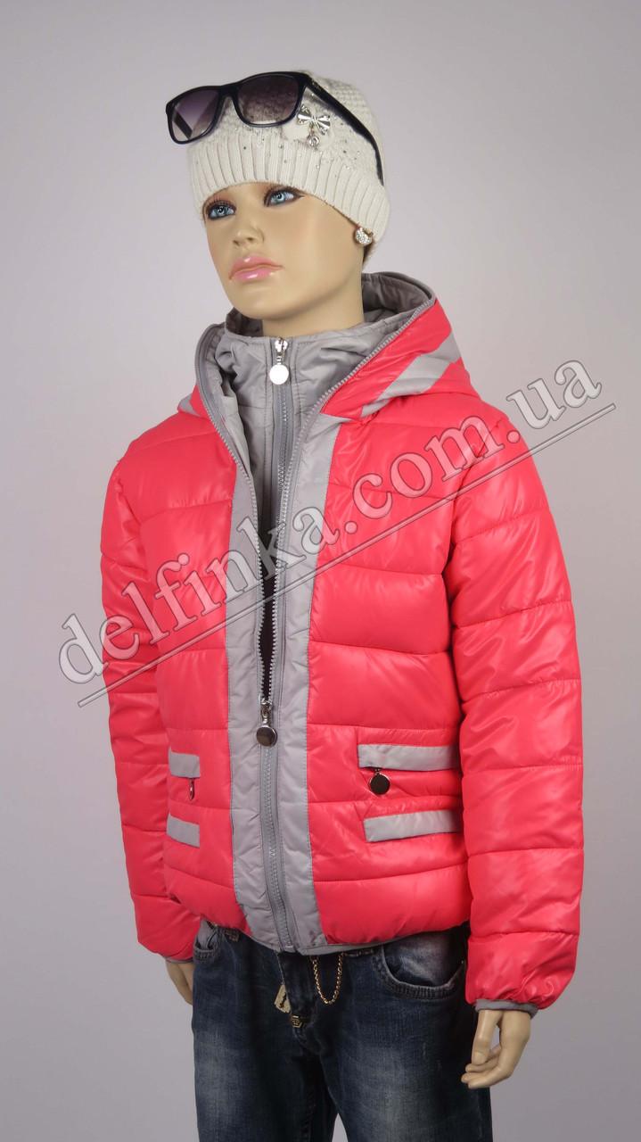 Куртка для девочек 18-23 delfin-free, р.116-140, 6-11 лет, коралл