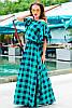 Длинное платье большого размера *Шерлиз*  зеленый 52