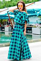 Длинное платье большого размера *Шерлиз*  зеленый 52, фото 1