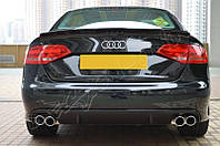Диффузор юбка обвес заднего бампера Audi A4 b8 дорестайл