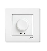 Светорегулятор, диммер 1000W RL поворотный белый, крем Viko Karre