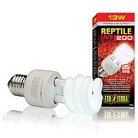 Лампа для пустынного террариума REPTILE UVB 200/13W  E27 для облучения УФ-В, E27 Exo Terra