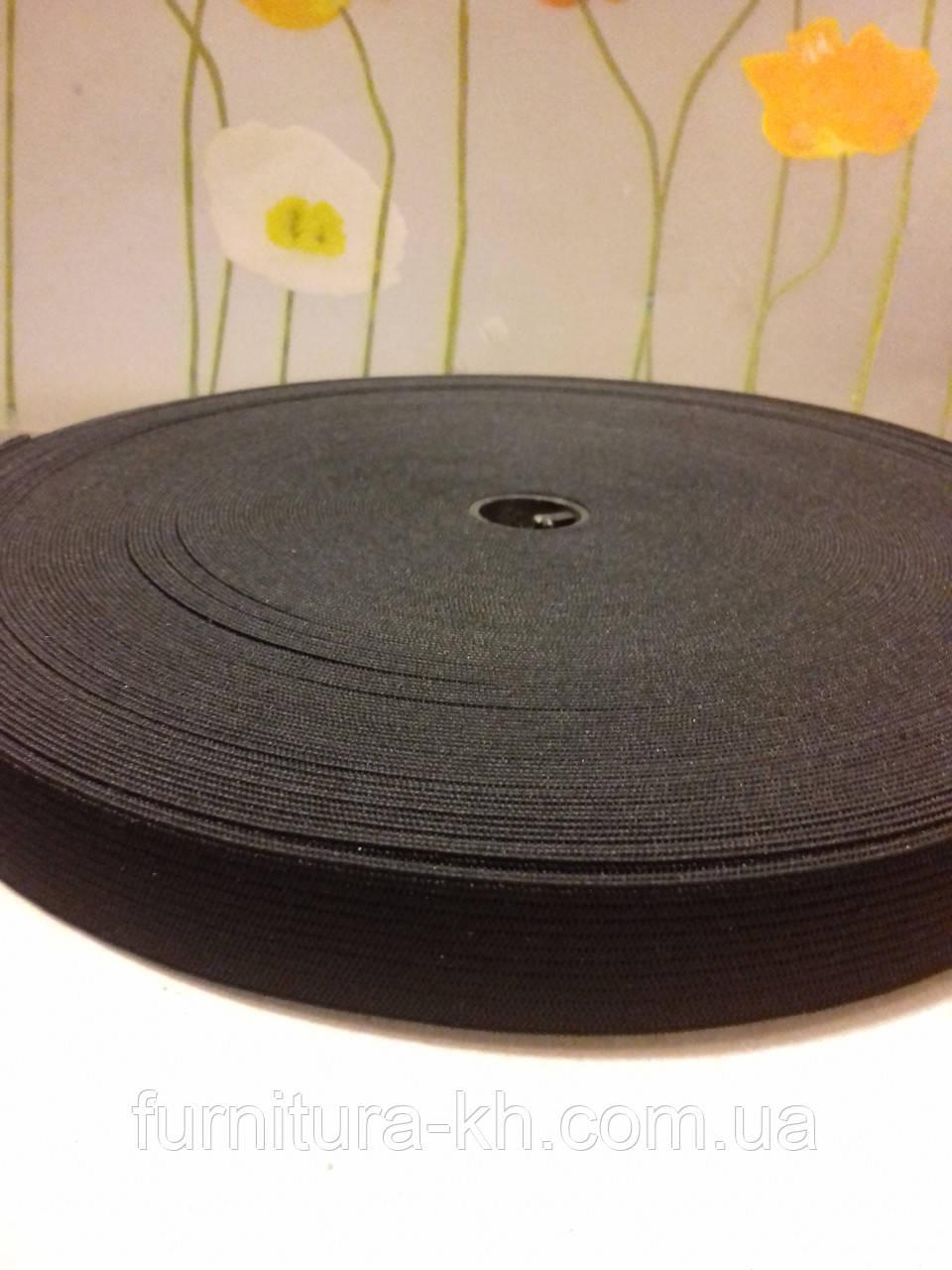 Резинка 2 см Черная в рулоне 40 метров