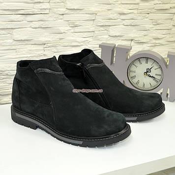 Мужские ботинки , осень/зима, натуральная кожа нубук
