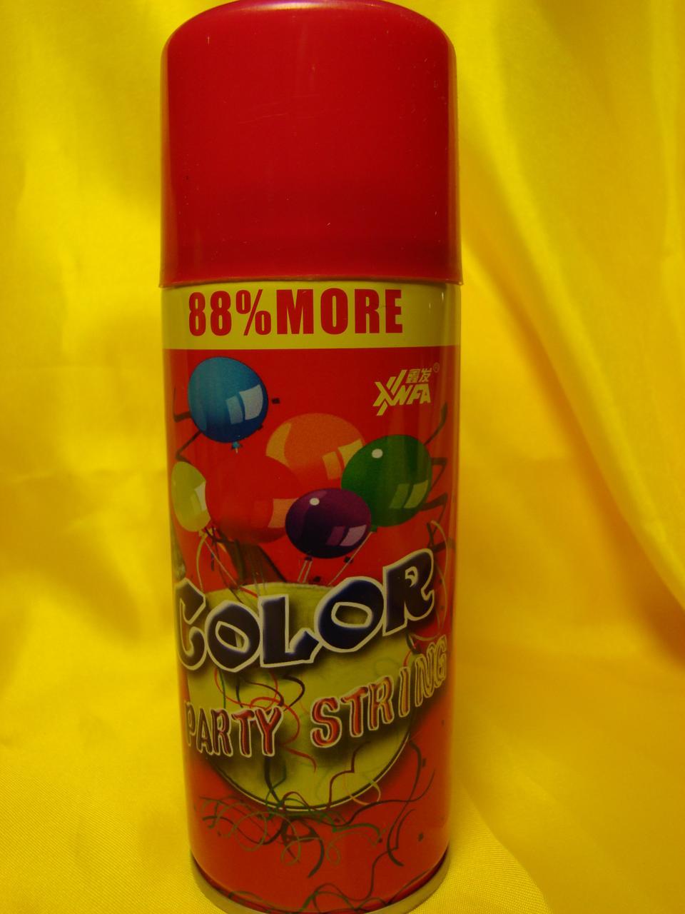 Серпантин   кольоровий   у балончику . Колір червоний