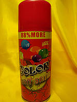 Серпантин   кольоровий   у балончику . Колір червоний , фото 1