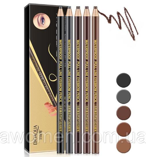 Набор карандашей для бровей Pull line Bioaqua Soft Coloured (5 штук)