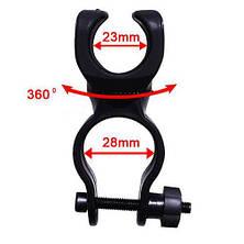 Велосипедное крепление (поворотное) для фонарей KK-03, фото 3