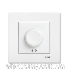 Светорегулятор, диммер 600W RL поворотный белый, крем Viko Karre