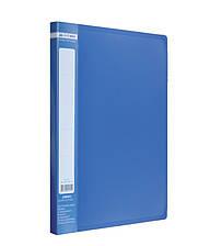 Папка А4 с боковым прижимом, синяя, Buromax, BM.3401-02, 340102