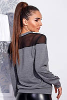 Серый свитшот -НЕНСИ- большого размера , фото 1