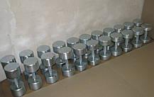 Гантельний ряд від 12 до 50 кг (металевий). Загальна вага 1240 кг, фото 2