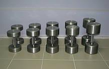 Гантельний ряд від 12 до 50 кг (металевий). Загальна вага 1240 кг, фото 3