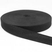 Резинка 2,5 см Черная в рулоне 40 метров