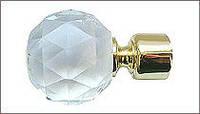 "Наконечник ""Кристалл Шар"" для карнизов диаметром 25 мм"