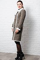 Стильное теплое пальто  - Дореми - капучино