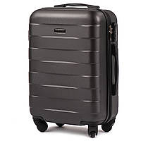 Малый пластиковый чемодан Wings 401 на 4 колесах серый, фото 1