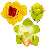 Букет искусственных роз с орхидеями гигант, 73см, фото 2