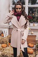 Светлое женское пальто -Альба - пудровый, фото 1
