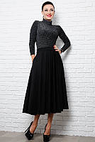 Черная классическая юбка Мелисса, фото 1