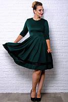 Батальное платье Миу-Миу, изумрудный, фото 1