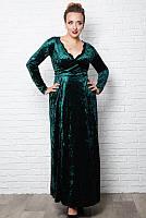 Батальные вечернее платье Грация, изумрудный, фото 1