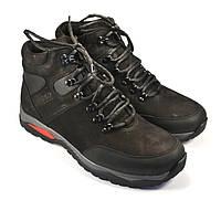 Большой размер зимние ботинки мужские из нубука Rosso Avangard BS Lomerback Black Nub черные